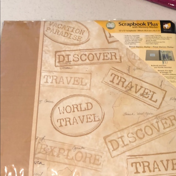 Scrapbook Album 12x12 Postbound Travel Theme
